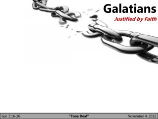 Galatians Justified by Faith