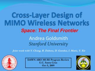 Cross-Layer Design of  MIMO Wireless Networks