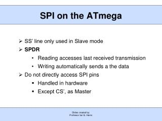 SPI on the ATmega