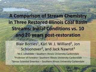 Blair Borries 1 , Karl W. J. Williard 2 , Jon Schoonover 2 , and Jack Nawrot 3