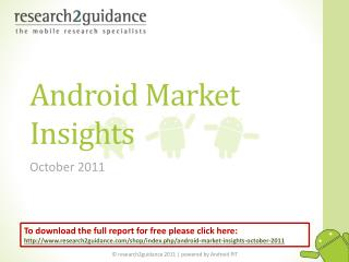 Android Market Insights- October 2011