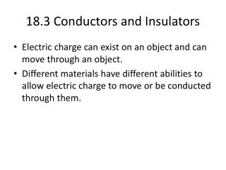 18.3 Conductors and Insulators