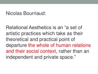 Nicolas  Bourriaud :