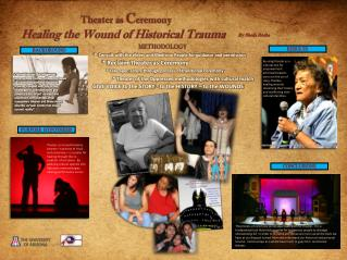 Theater as  C eremony Healing the Wound of Historical  Trauma