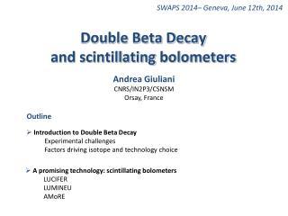SWAPS 2014– Geneva,  June  12th, 2014