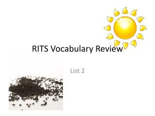 RITS Vocabulary Review