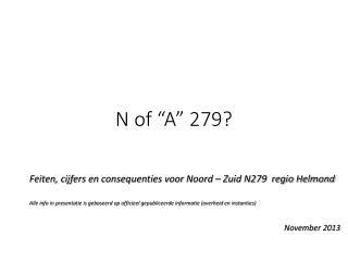 """N of """"A""""  279?"""