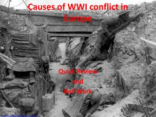 Causes of WWI conflict in Europe
