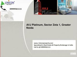 AVJ Platinum Greater Noida | call 09999561111 for booking