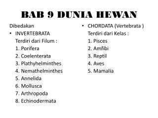 BAB 9 DUNIA HEWAN