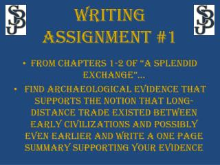 """From chapters 1-2 of """"a splendid exchange""""…"""