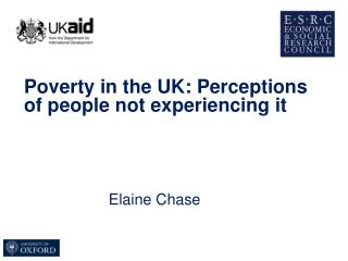 Poverty in the UK: Perceptions of people not experiencing it