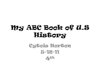 My ABC Book of U.S History