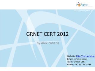 GRNET CERT 2012