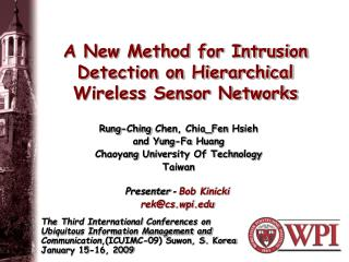 A New Method for Intrusion Detection on Hierarchical Wireless Sensor Networks