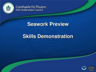 Seawork  Preview Skills Demonstration