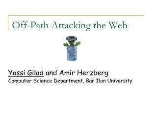 Off-Path Attacking the Web