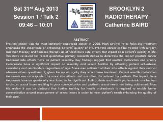 BROOKLYN 2 RADIOTHERAPY Catherine BAIRD