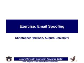 Exercise:  Email Spoofing