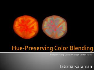 Hue-Preserving Color Blending