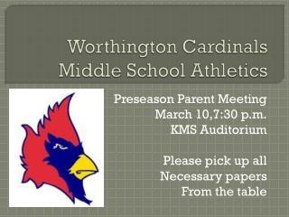 Worthington Cardinals Middle School Athletics