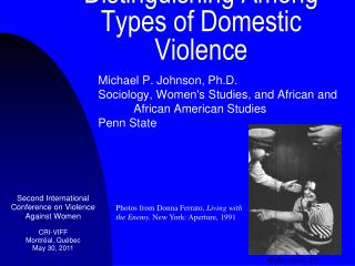 Distinguishing Among  Types of Domestic Violence