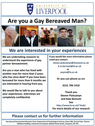 Are you a Gay Bereaved Man?