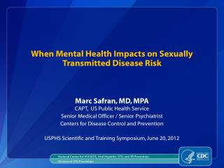 When Mental Health Impacts on Sexually Transmitted Disease Risk