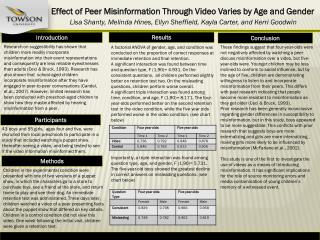 Effect of Peer Misinformation Through Video Varies by Age and Gender