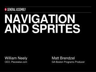Navigation and sprites
