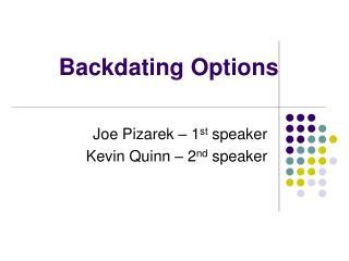 Backdating Options