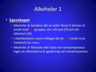 Alkoholer 1