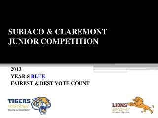 SUBIACO & CLAREMONT JUNIOR COMPETITION
