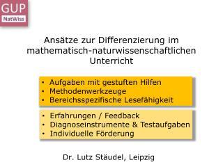 Ansätze zur Differenzierung im mathematisch-naturwissenschaftlichen Unterricht