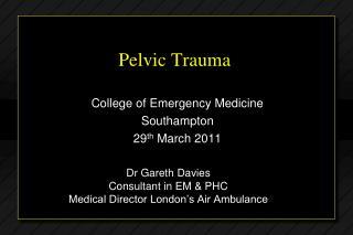 Pelvic Trauma