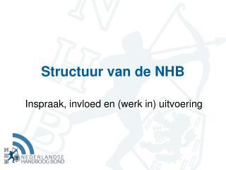 Structuur van de NHB