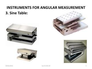 INSTRUMENTS FOR ANGULAR MEASUREMENT