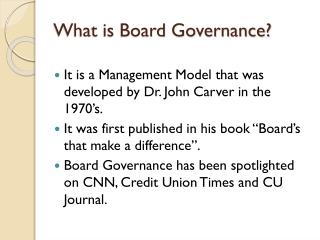 What is Board Governance?