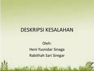 DESKRIPSI KESALAHAN