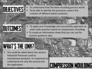 To understand how the blow moulding process works.