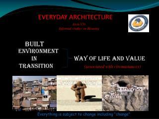 EVERYDAY ARCHITECTURE