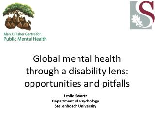 Global mental health through a disability lens:  opportunities and pitfalls