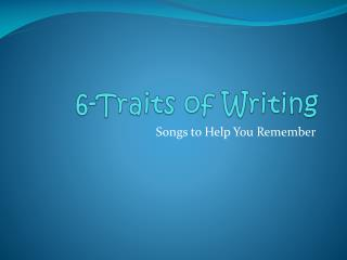 6-Traits of Writing