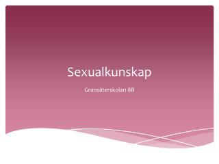 Sexualkunskap
