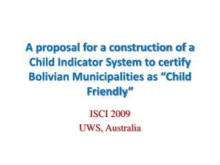 ISCI 2009 UWS, Australia