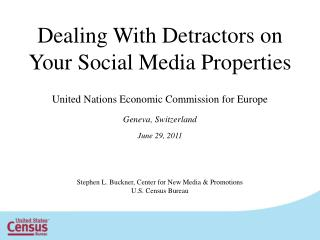 Dealing With Detractors on Your Social Media Properties