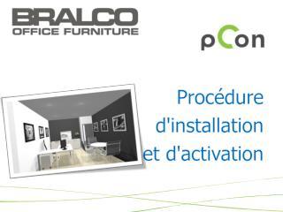 Procédure d'installation et  d'activation