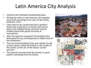 Latin  America City Analysis