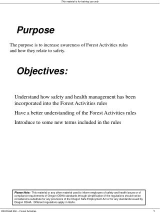Terms to be familiar with