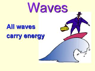 All waves  carry energy